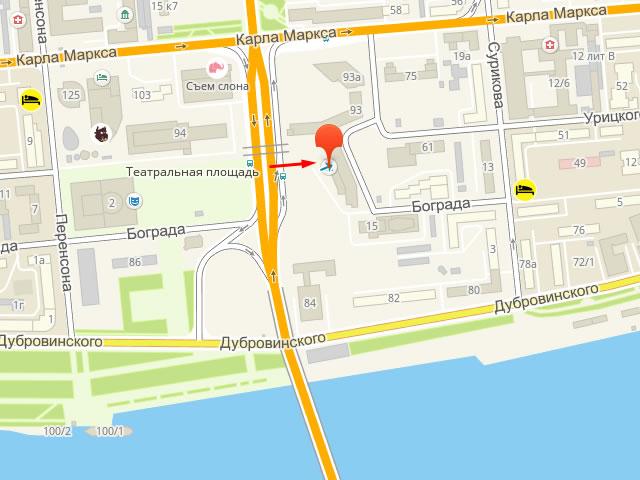 Главное управление соцзащиты населения Центрального района г. Красноярска на ул. Карла Маркса