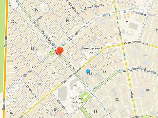 Комплексный центр социального обслуживания (Соцзащиты) населения Центрального района г. Тольятти на ул.Карла Маркса