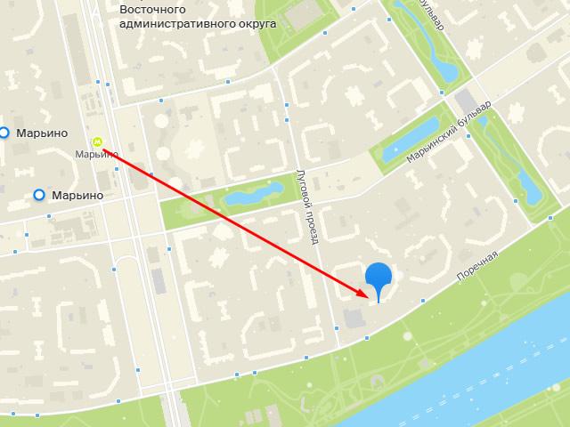 Районный отдел жилищных субсидий, Юго-Восточный административный округ№115 врайоне Марьиног. Москвына ул.Поречная