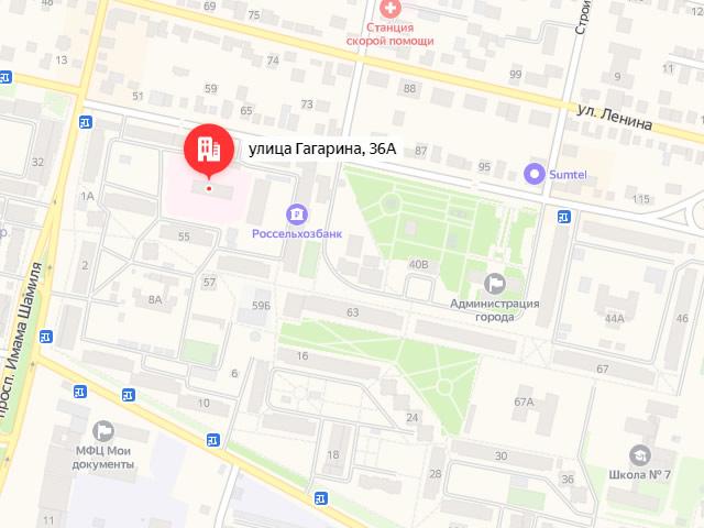 Реабилитационный центр для детей и подростков с ограниченными возможностями в МО «город Кизилюрт» в г. Кизилюрт на ул. Гагарина