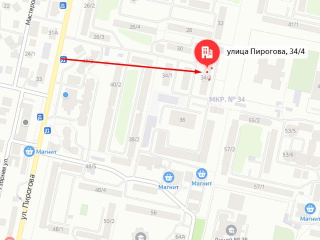 Краевой центр социального обслуживания (соцзащиты) граждан пожилого возраста и инвалидов города Ставрополя на ул. Пирогова