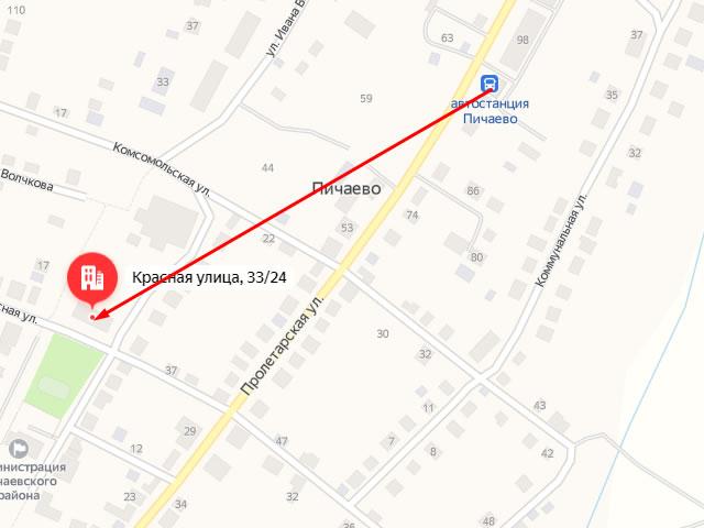 Центр социальных услуг (соцзащиты) для населения Пичаевского района в с. Пичаево на ул. Красная