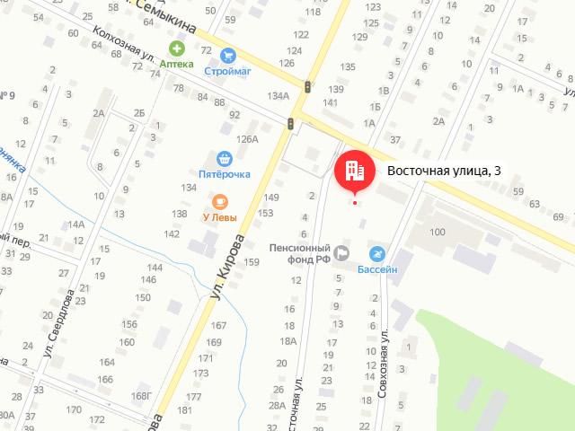 Изобильненский центр социального обслуживания (соцзащиты) населения в г. Изобильный на ул. Восточная